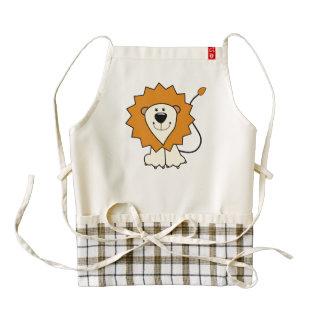 Lion cartoon zazzle HEART apron