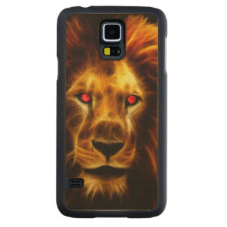 Lion Carved® Maple Galaxy S5 Slim Case