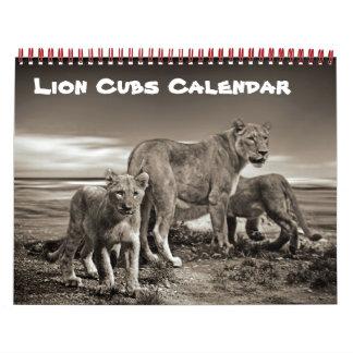 Lion Cat Cats Cubs Baby Cub Home Destiny Destiny'S Calendar