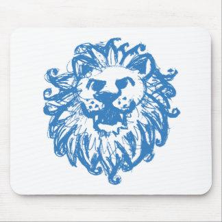 Lion Champ 2 Blue Mouse Pad