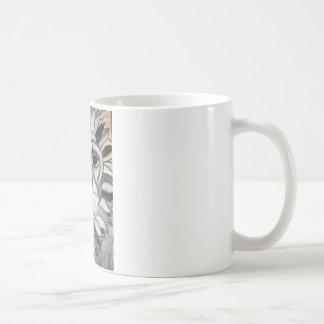 Lion Charcoal Black White Drawing Coffee Mug