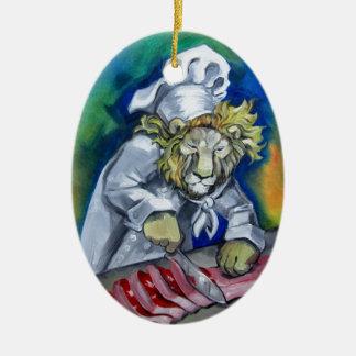 Lion Chef Christmas Tree Ornament