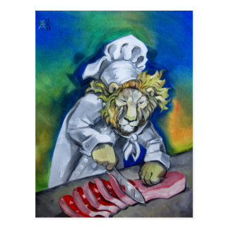 Lion Chef Postcard