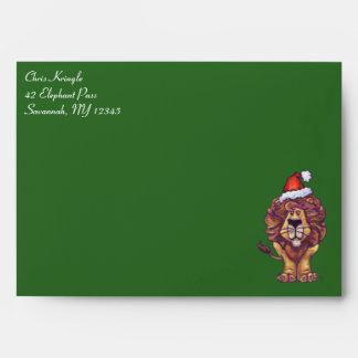 Lion Christmas Envelope