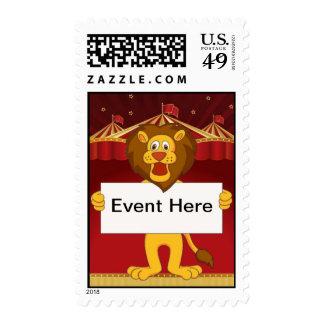 Lion, Circus Postage