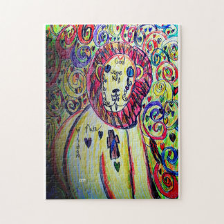 Lion Coloful Jigsaw Puzzle