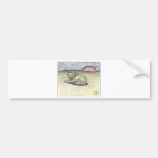 LION COLOR PENCIL DRAWING.PNG BUMPER STICKER