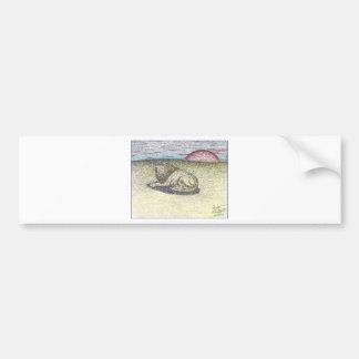 LION COLOR PENCIL DRAWING.PNG BUMPER STICKER