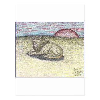 LION COLOR PENCIL DRAWING.PNG POSTCARD