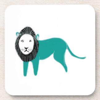 lion beverage coasters