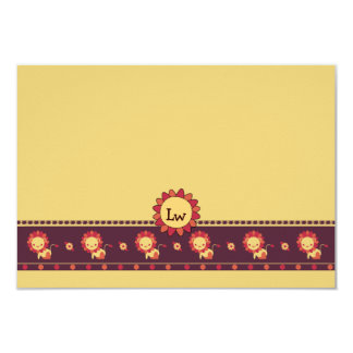 Lion Country Children's Personalized Stationery 3.5x5 Paper Invitation Card