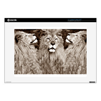 """Lion,Courage,Power&Strength_ Decal For 15"""" Laptop"""