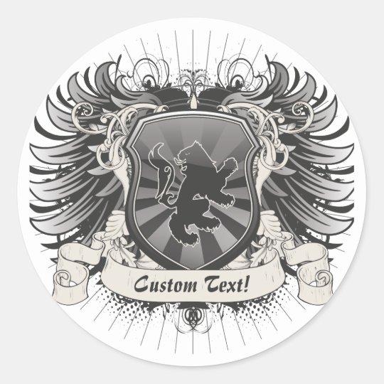 Lion Crest Classic Round Sticker