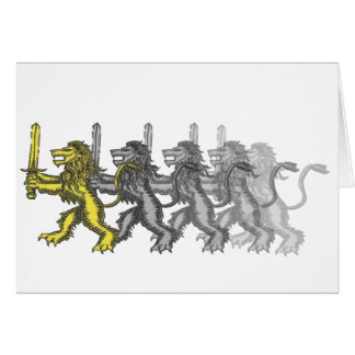 lion crest dash greeting card