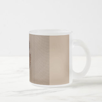 Lion Crest frosted cup