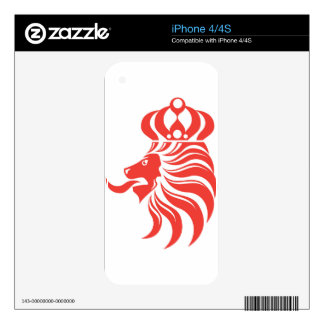 Lion Crown vector iPhone 4S Skin