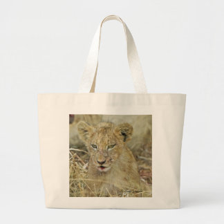 Lion Cub 7 Large Tote Bag