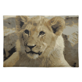 Lion Cub American MoJo Placemat Cloth Placemat