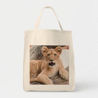Lion cub canvas bag