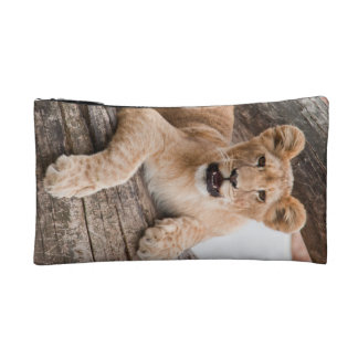 Lion cub cosmetic bags