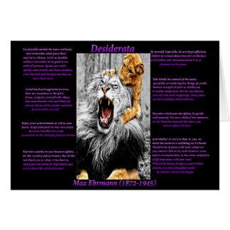 Lion Cub Card