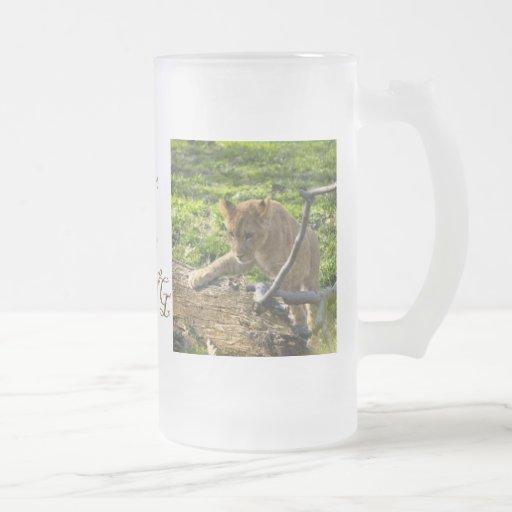 Lion Cub Climbing Mug