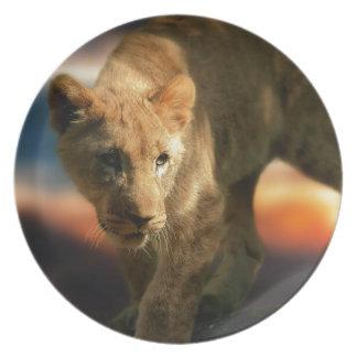 Lion Cub Dinner Plate