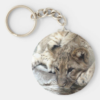 lion cub face keychain