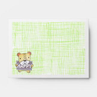 Lion cub Green envelope