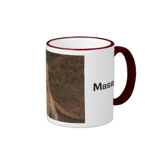 Lion cub in Masai Mara Ringer Coffee Mug