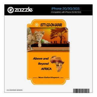 Lion Cub & Maasai Tribesmen under Acacia Tree Decals For iPhone 2G