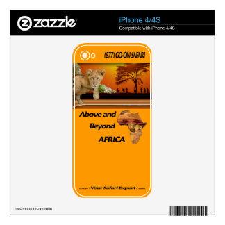 Lion Cub & Maasai Tribesmen under Acacia Tree Skin For iPhone 4