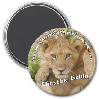 Lion Cub Magnet / Name Tag (remove or change text)
