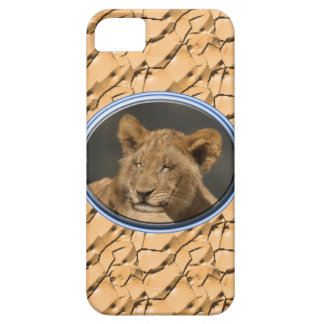 Lion cub napping iPhone SE/5/5s case