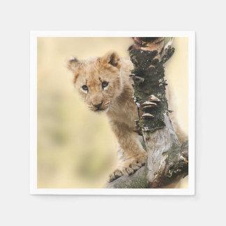 Lion Cub Paper Napkin