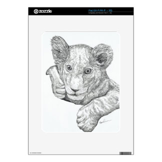 Lion Cub Pen and Ink iPad Skins