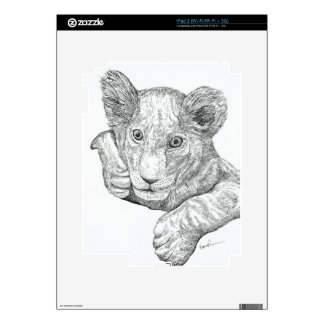 Lion Cub Pen and Ink Skins For The iPad 2