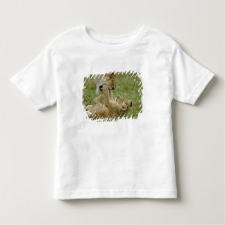 Lion cub playing with female lion, Masai Mara Toddler T-shirt