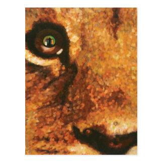 Lion Cub-Rainbow in Eye Postcard