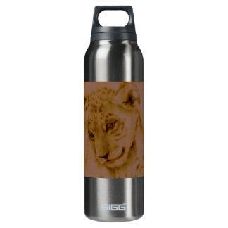 Lion Cub Sketch 16 Oz Insulated SIGG Thermos Water Bottle