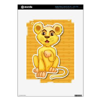 Lion cub iPad 3 decal