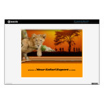 """Lion Cub & Tribe under Tree 12"""" computer skin Decals For Laptops"""