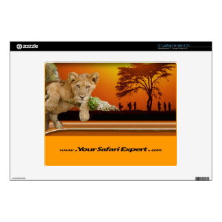 """Lion Cub & Tribe under Tree 12"""" computer skin Decal For Laptop"""