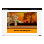 """Lion Cub & Tribe under Tree 13"""" computer skin Skins For Laptops"""