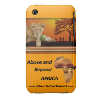 Lion Cub & Tribe under Tree & Africa Collage Case-Mate iPhone 3 Case