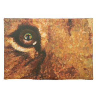 Lion Cub with Rainbow in Eye Placemat