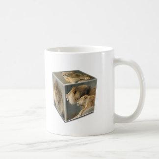LION CUBE - A Male A FEMALE A COUPLE Coffee Mugs