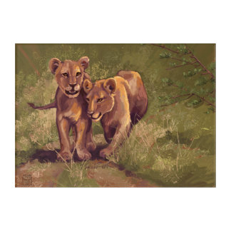 Lion Cubs Art