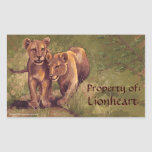 Lion Cubs Art Bookplate Stickers