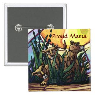 Lion Cubs Art Proud Mama Pins